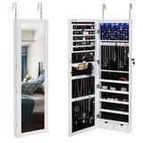 Songmics Lockable, Hanging, Jewelry Cabinet with LED Lighting