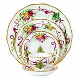 Royal Doulton Old Country Roses Christmas Tree Dinnerware Set