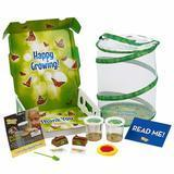 Insect Lore Deluxe Butterfly Garden with 2 Live Cups of Caterpillars & Feeding Kit