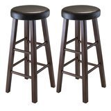 Winsome Wood Marta Assembled Round Bar Stools