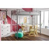 YourZone Metal Twin Loft Bed