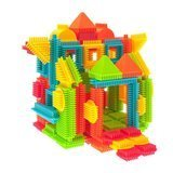 PicassoTiles 120-Piece Bristle Shape 3D Building Blocks