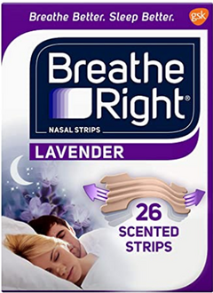 Breathe Right Calming Lavender Nasal Strips to Stop Snoring