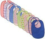 Neat Solutions Girl 10 Pack Water Resistant Bib Set