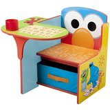 Delta Children Sesame Street Elmo Toddler Desk Chair with Storage