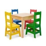 Melissa & Doug Wooden Table & 4 Chairs