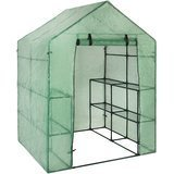 Best Choice Products Portable Outdoor 2-Tier, 8-Shelf Mini Walk-In Greenhouse, 57.5 in. x 56 in. x 76 in.