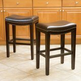 Great Deal Furniture Jaedan Backless Brown Stools