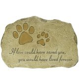 Evergreen Garden Pet Paw Print Devotion Painted Polystone