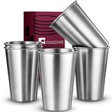 FineDine Premium Grade Stainless Steel Pint Tumblers; 16 Oz., Set of 5