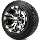 Golf Cart Tire Supply 10-Inch Vampire Golf Cart Wheels