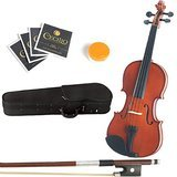 Mendini 16-Inch MA250 Natural Varnish Solid Wood Viola