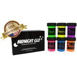 Midnight Glo UV Neon Face & Body Paint Glow Kit (6 Bottles, 0.75 oz. Each)