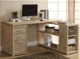 Monarch Specialties Inc. Reclaimed-Style Corner Desk