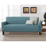 Winston Porter Solid Stretch T-Cushion Sofa Slipcover