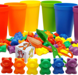 Skoolzy Rainbow Counting Bears and Matching Sorting Cups
