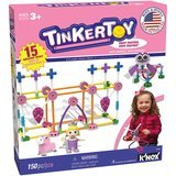 TINKERTOY Pink Building Set, 150 Pieces