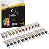 U.S. Art Supply Professional Set of 24 Oil-based Colors