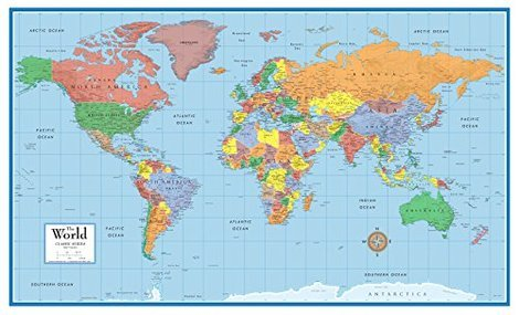 5 best world maps sept 2018 bestreviews classic world map 36 x 24 gumiabroncs Choice Image