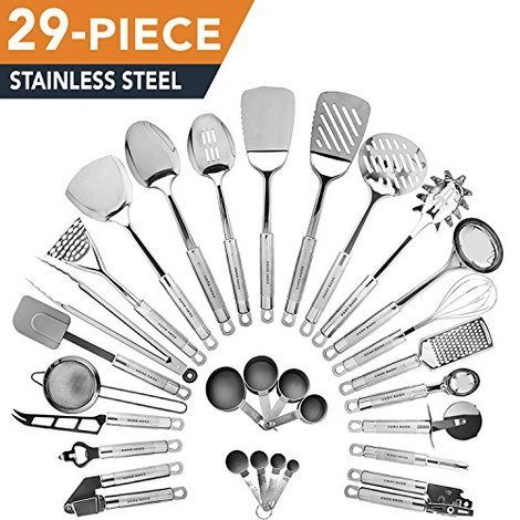 29 Piece Stainless Steel Kitchen Utensil Set